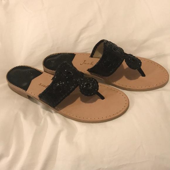 7395f46a4e6eb7 Jack Rogers Shoes - Size 8 Jack Rogers Black sparkle sandals